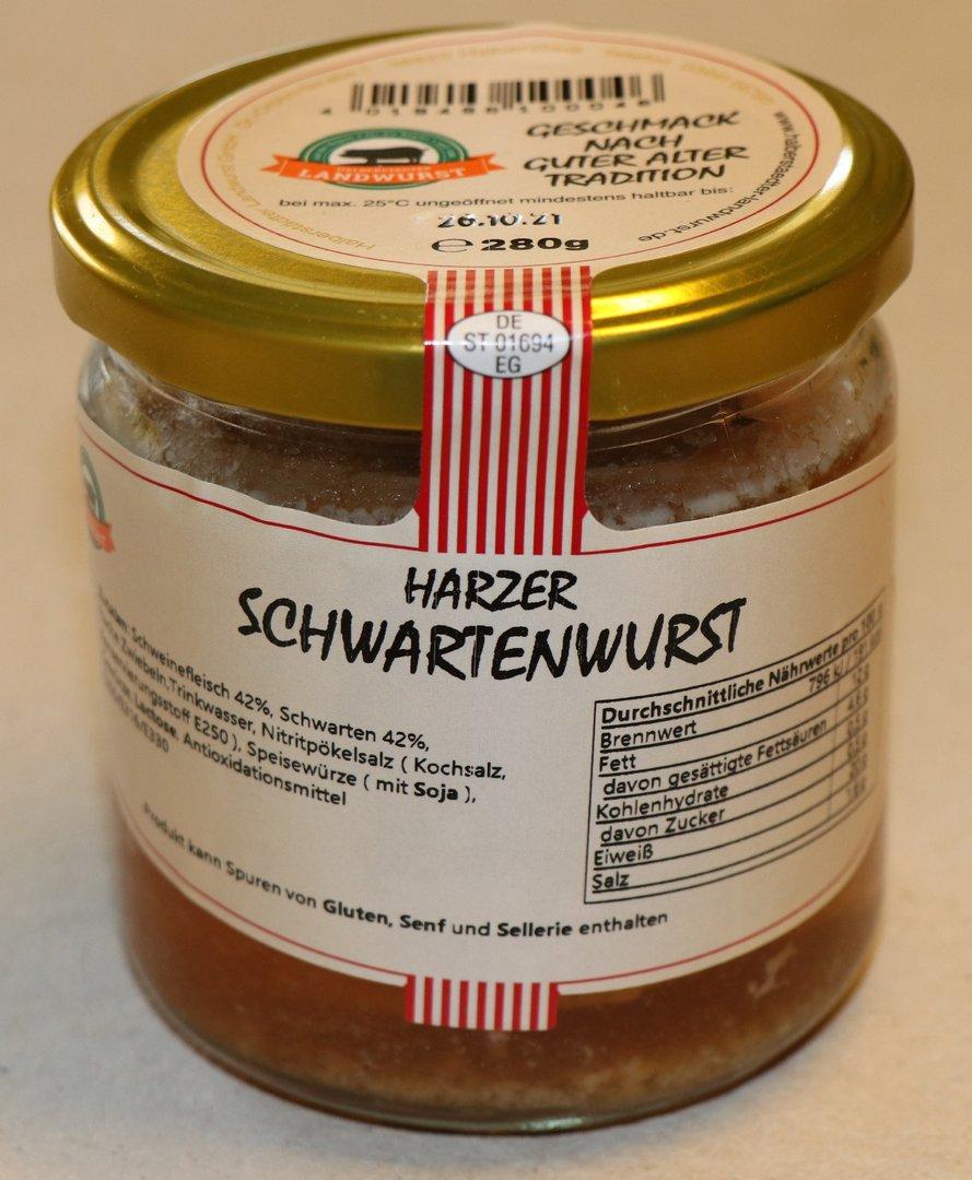 harzer schwartenwurst im glas halberst dter landwurst gmbh. Black Bedroom Furniture Sets. Home Design Ideas